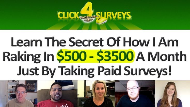 Click 4 Surveys - Get Paid Cash To Take Surveys