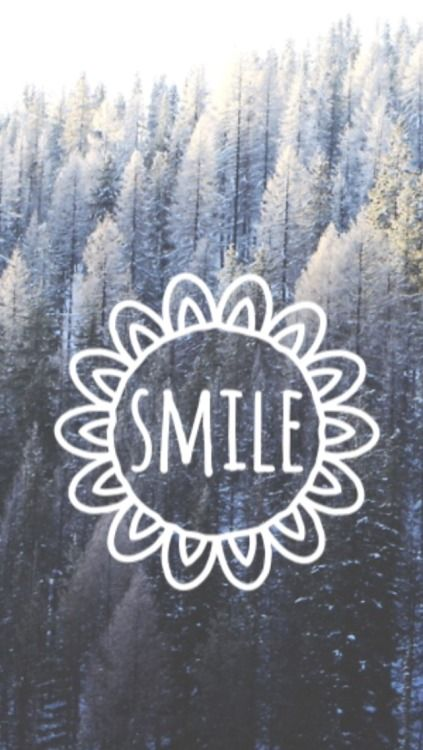Winter trees forest Smile iphone wallpaper phone background lockscreen