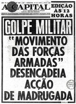 JORNAL A CAPITAL -Manchete de jornal: Golpe Militar 31 MARÇO 1964