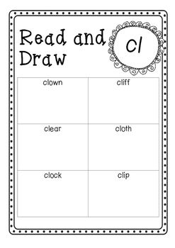 Read and Draw Bundle with Blends  Phase 4 UK Letters and Sounds program