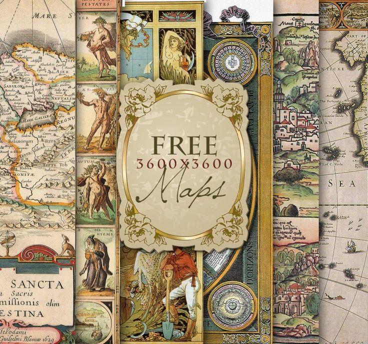 Imágenes gratuitas de mapas antiguos                                                                                                                                                                                 Más