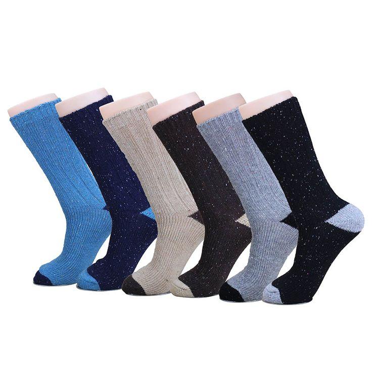 Click to Buy << 2017 Fall Winter Brand Warm Wool Men Socks Coolmax. >>