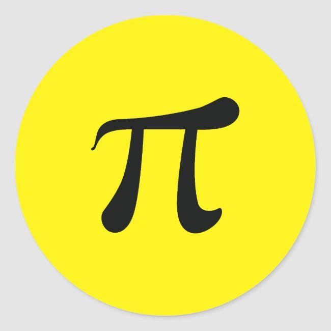 Pi Symbol Mathematical Constant Classic Round Sticker Ad Affiliate Constant Classic Sticker Mathematical Pi Symbol Create Custom Stickers Round Stickers