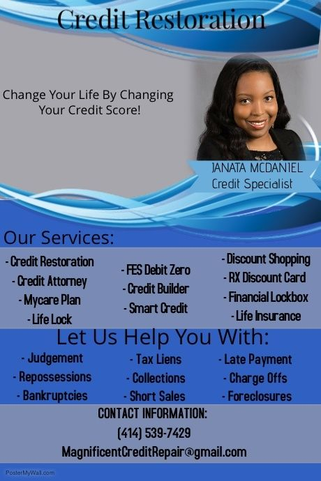 Copy Of Business With Images Credit Repair Flyer Discount Card