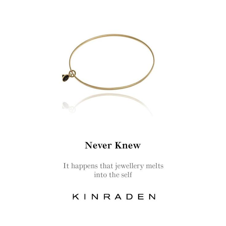 """Never Knew"" – a modern classic in 18-carat recycled gold. Explore the bracelet in the Old European Cut Gold Series or buy it in our new webshop at www.kinraden.dk. Design Vibe Harsløf."