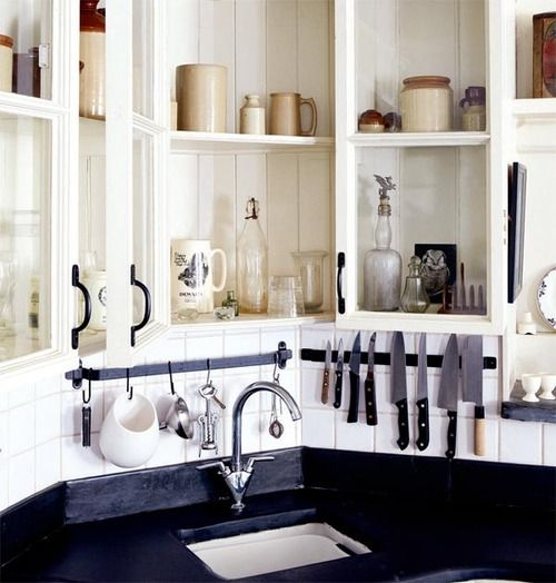 : Victorian Kitchens, Kitchens Shelves, Beauty Restoration, Beauty Kitchens, Open Cabinets, Small Kitchens, Victorian Mills, Knives, Kitchens Organizations