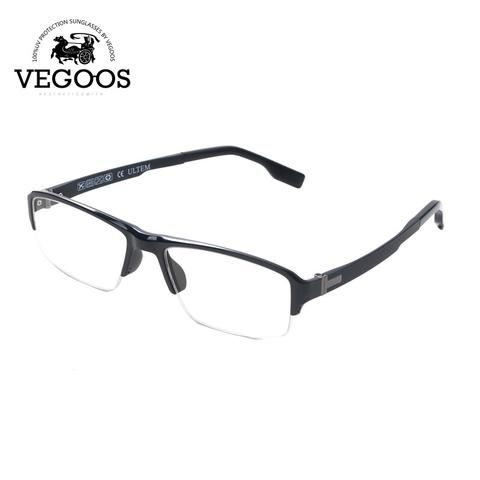 VEGOOS Tungsten Titanium Alloy Frames Square reading computer glasses optical frames myopia glasses brand designer Frames #5015