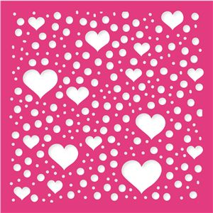 Silhouette Design Store: hearts & dots background