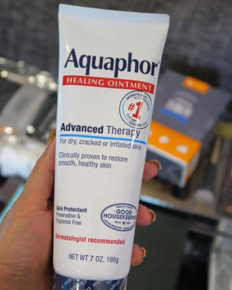 Aquaphor works on dry, cracked, sensitive skin and is even known for being the best way to help a new tattoo heal.