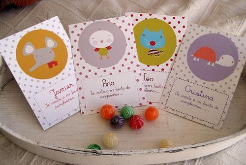 Invitaciones de cumpleaños infantiles Fiestas infantiles y  STATIONERY Pinterest Fiestas