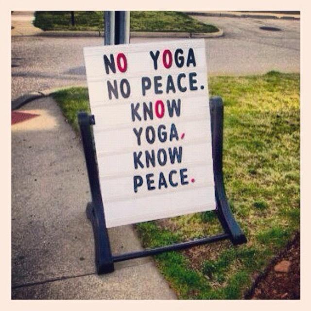 know yoga. :)