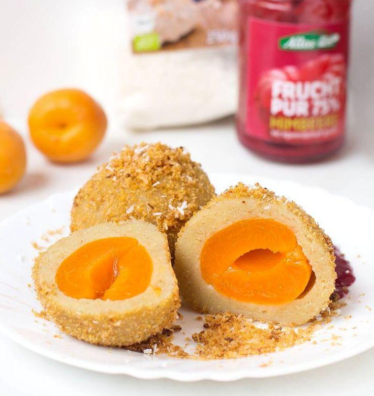 Vegane Marillenknödel aus Kartoffelteig - Healthy On Gree