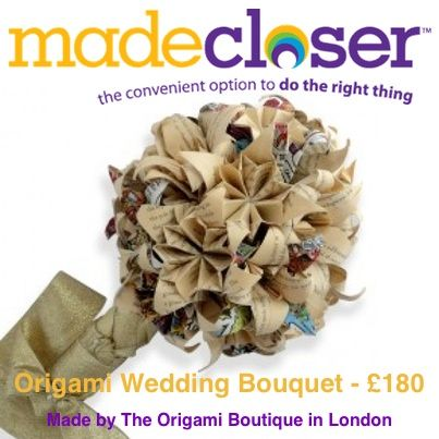 Product of the Week: Books and Comics Origami Wedding Bouquet made by The Origami Boutique in London - £180