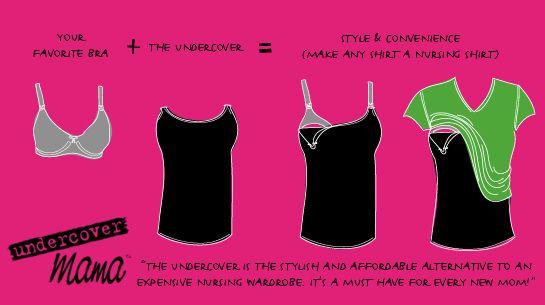 The Jenson Jaunts: Thrifty-Fun DIY: Make Your Own Nursing Cami: Undercov Mama, Nur Shirts, Nurses Tanks, Nur Bra, Mama Nurses, Nur Tanks, Baby, Nurses Bra, Nurses Shirts