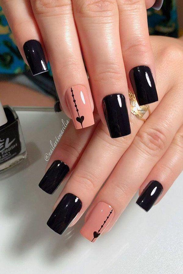 Art Designs Black Nails In 2020 Elegant Nail Art Nail Art Designs Black Nail Designs