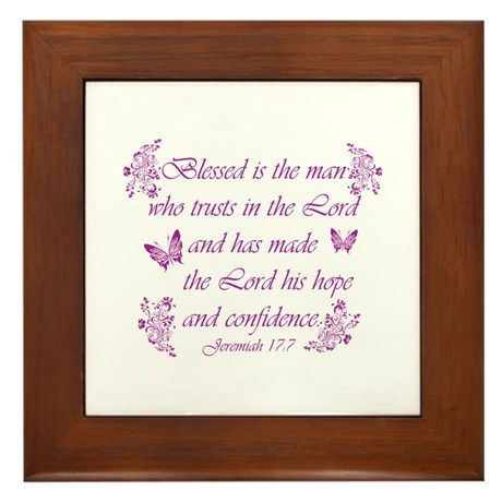 Inspirational Christian quotes Framed Tile on CafePress.com