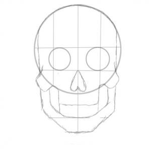 how to draw a sugar skull step 2