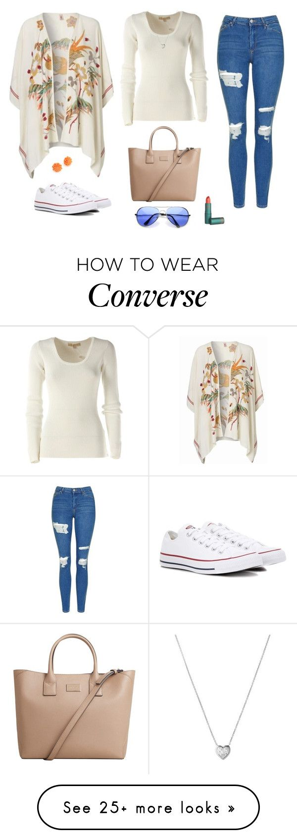 """Untitled #1366"" by alex-gucka on Polyvore featuring Michael Kors, Topshop, BeckSöndergaard, Converse, MANGO and Links of London"