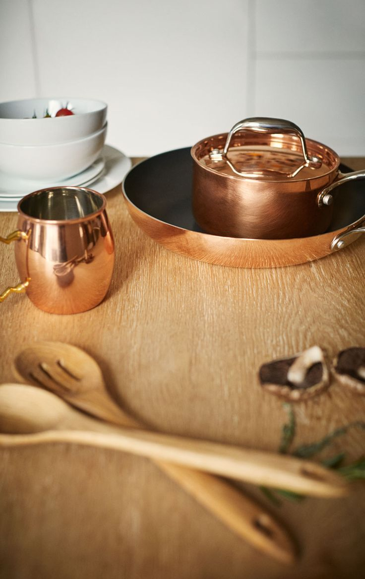 Copper cookware cooks to perfection. And looks really nice too. Bonus.
