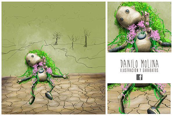"""Avance de ilustración digital en proceso.  #ilustration #concept #robot #space #soul #digital #machine """"Transición"""" on BehanceTransición on Behance"""