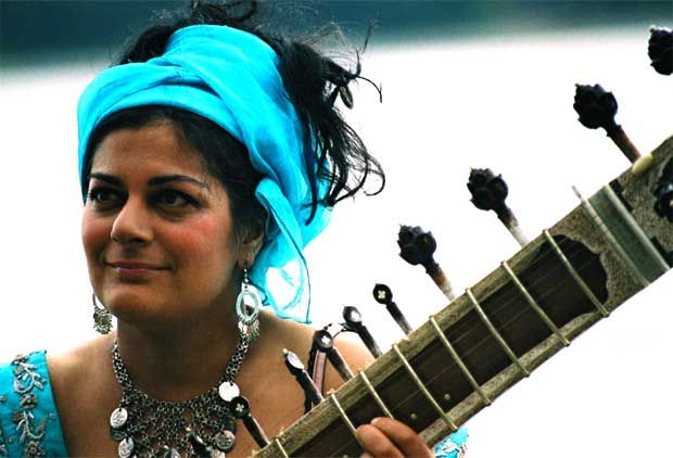 Sheema Mukerjee Interview :: You can hear her exhilarating, fast-moving sitar and her beautiful arrangement of a traditional Bengali lullaby on the Songs from Nandita's Dream album