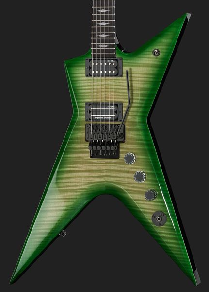 Dean Guitars Stealth Floyd Dime Slime, electric guitar, set neck construction