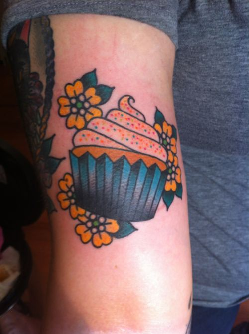 Okay scratch all my other cupcake tattoo pins!!!!! This is EXACTLY what I want!!! In LOVE!
