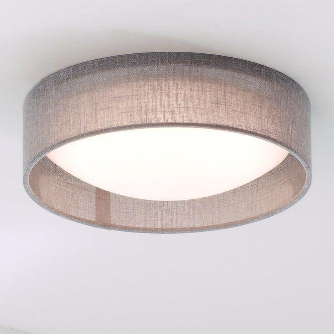 11 Led Linen Shade Ceiling Light Low Ceiling Lighting Ceiling