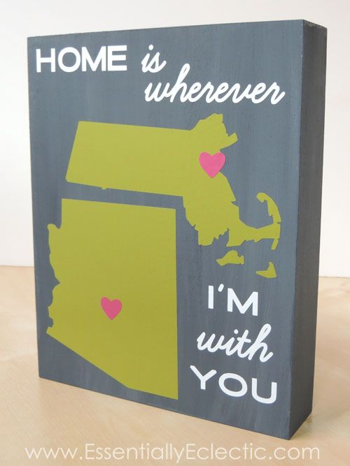 DIY Wood Canvas Wall Art | Home is Wherever I'm With You | www.EssentiallyEclectic.com
