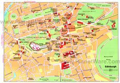 Map of Edinburgh Attractions | PlanetWare-Printable