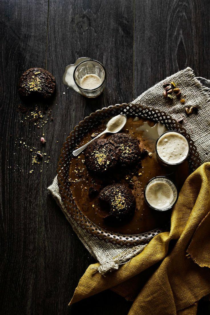 Chocolate Pistachio Cookies | Pratos e Travessas