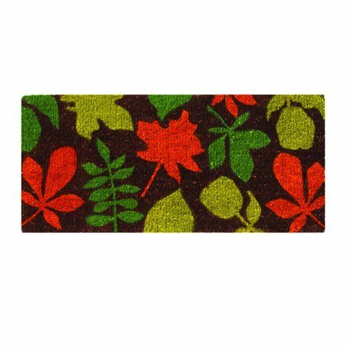 TAG 201374 18-Inch by 40-Inch Leaf Patterned Estate Coir Door Mat in Harvest Colors by Tag. $44.99. For best results please use in a covered area. Generous 18-inch by 40-inch size. We utilize high quality fade resistant inks in printing process. Hardy long lasting fibers are used. Can be shaken or vacuumed clean. Our coir mats are made from a natural, renewable fiber by skilled crafts people in small villages in India. Using traditional processes coconut fibers are h...