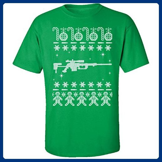 Sniper Rifles Ugly Sweater Cheytac Intervention Christmas - Adult Shirt - Holiday and seasonal shirts (*Amazon Partner-Link)