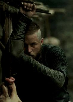 Ragnar watching Björn and Þórunn, Vikings Season 3