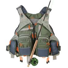 Fly Fishing Mesh Vest General Size Adjustable Mutil-Pocket Outdoo Fishing Hiking
