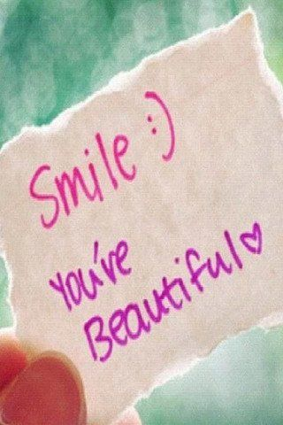Smile Youve Beautiful Mobile Wallpaper Quotes Pinterest Beauty