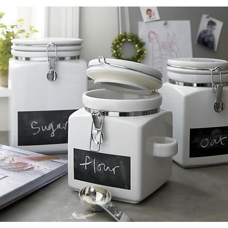 Medium Clamp Canister    Crate and Barrel