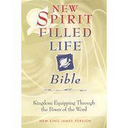 NKJV New Spirit Filled Life Bible, Black Bonded Leather, Thumb Indexed