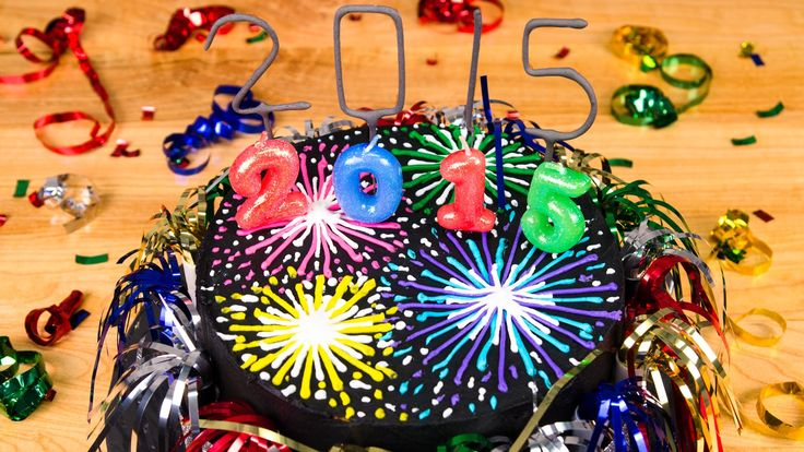 Fireworks New Year's Cake : Cookies Cupcakes and Cardio - youtube -  28 Dec 2014  #Fireworks #Cake #NewYearsEve