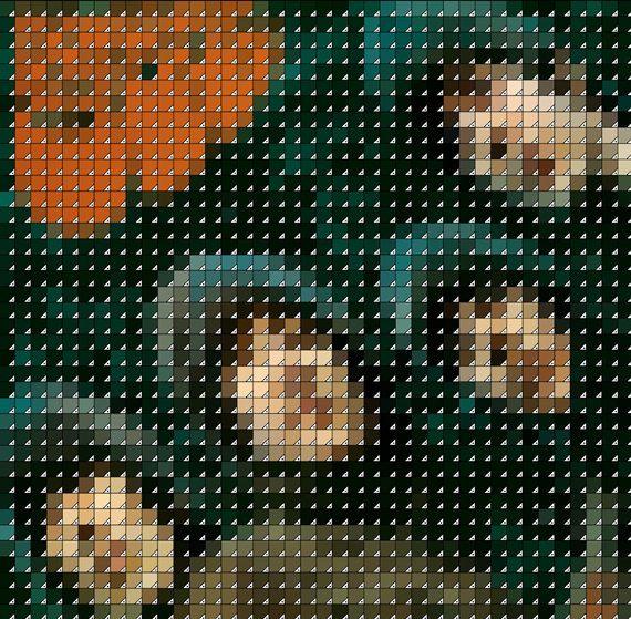 The Beatles Rubber Soul Pixel Album Cover