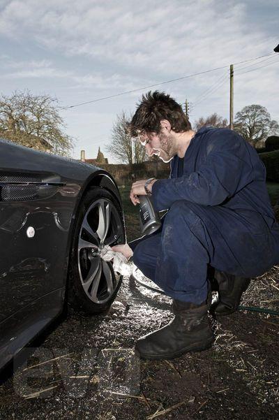 Guy Martin And His Aston Martin V12 Vantage Pictures | evo
