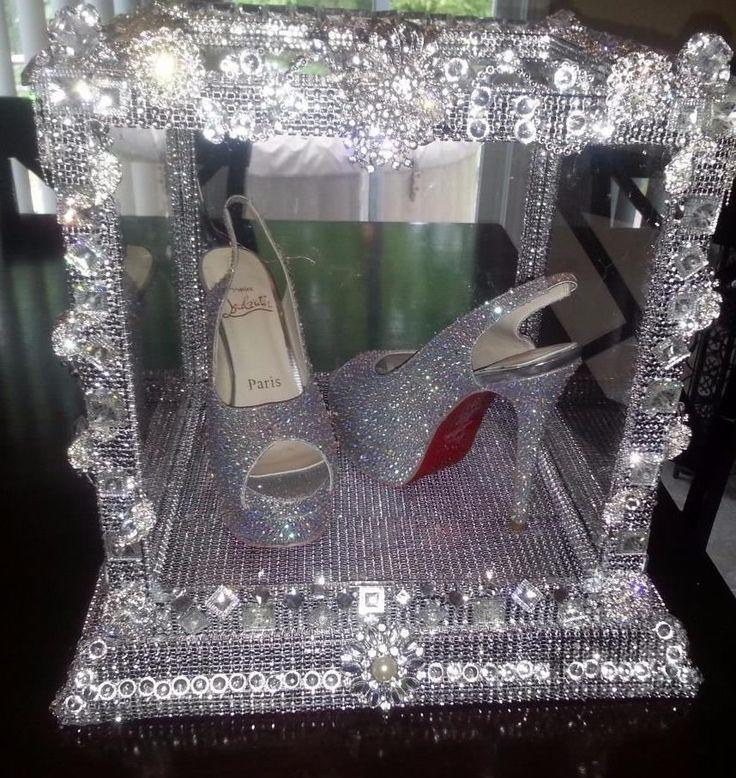Custom Made Bling Gem Brooch Rhinestone Covered Wedding Display Box 12 x 12 x 12 #DesignsbyDebby