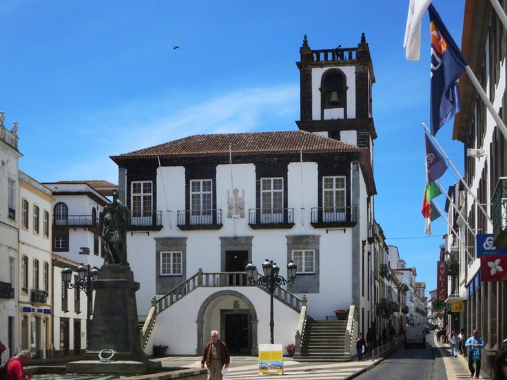 The 18th century Camara Municipal (City Hall) in Ponta Delgada on Sao Miguel Island, Azores, was originally the home of a wealthy family.