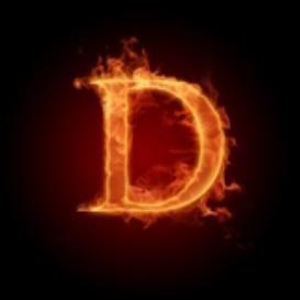Burning Letter D