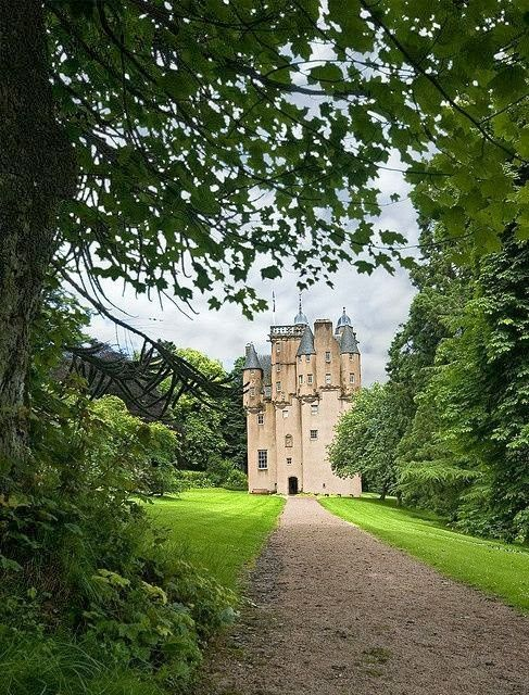 "Craigievar Castle is 6 miles south of Alford, Aberdeenshire, Scotland. It was the seat of Clan Sempill & the Forbes family resided here for 350 yrs until 1963, when the property was given to the National Trust for Scotland. An excellent example of the original Scottish Baronial architecture, the great seven-storey castle was completed in 1626 by the Aberdonian merchant William Forbes, ancestor to the ""Forbes-Sempill family"" & brother of the Bishop of Aberdeen, Patrick of Corse."