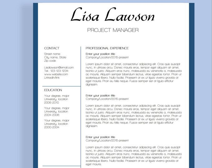 16 best Resume templates images on Pinterest Cv template, Resume - resume template linkedin