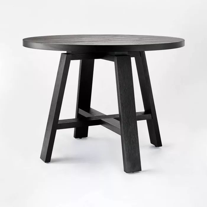42 Linden Round Wood Dining Table, Target Dining Room Table