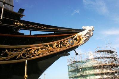 The Ship's Blog 11th November 2011 'Gilded scrollwork complete'