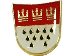 Einer der Topseller: Pin mit Kölner Wappen, erhältlich in 2 Größen ab €2,50