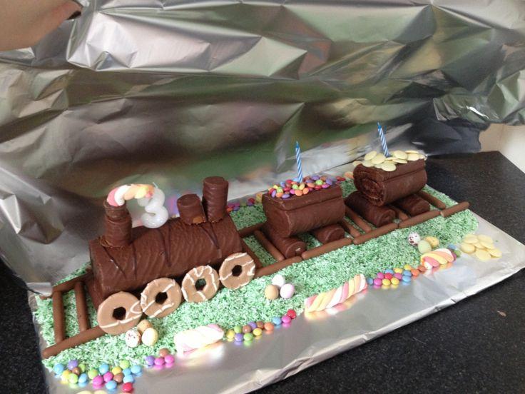 Birthday Cake Ideas No Bake Train Cake Birthday Ideas